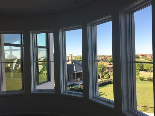 Wood Casement Installation Bow Window