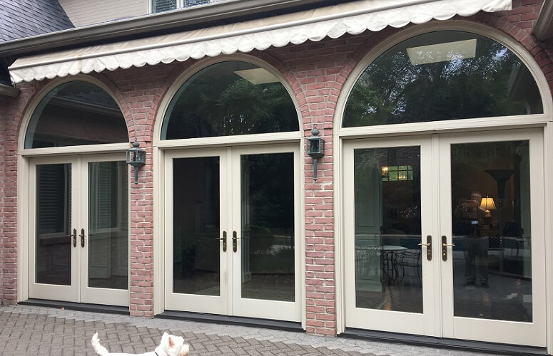 Wall of French Patio Doors Bring the Outdoors In