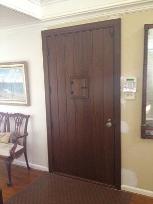 after image of dallas home with new wood entry door and wood casement windows