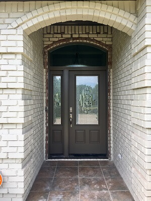 after image of fiberglass entry door replacement for dallas tx home