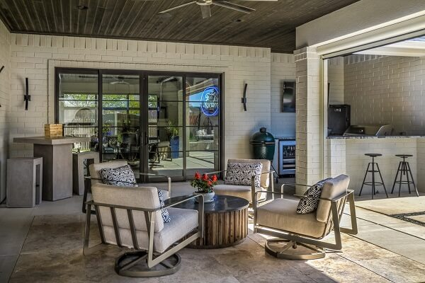 dallas home gets new wood casement windows patio