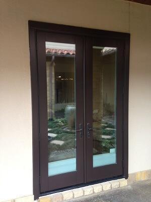 texas home gets new wood windows and hinged patio doors hinged door view