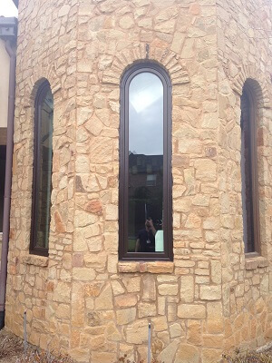 texas home gets new wood windows and hinged patio doors special shape windows