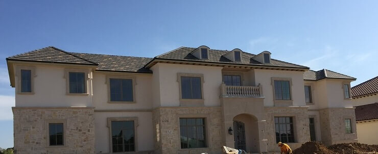 wood casement windows in new construction dallas home
