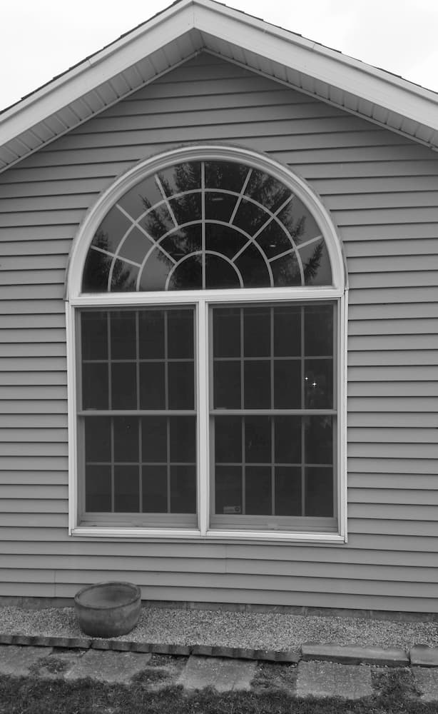 Old arch-top bedroom window