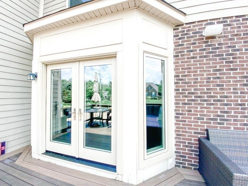 dayton french in-swing door w/casement windows exterior