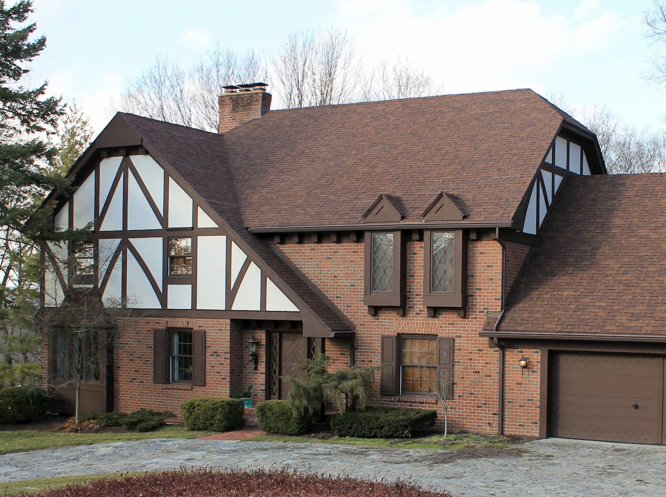 Tudor-style home in Kettering, Ohio, with all new Pella windows.