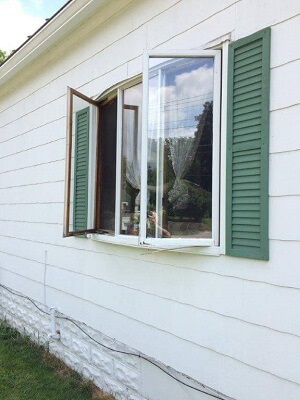 old wood casement windows