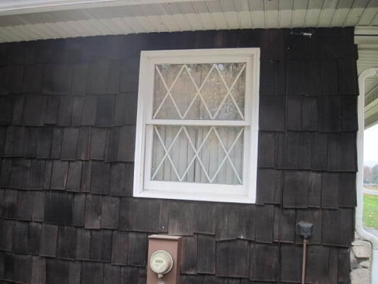 old wood window needing replaced