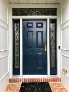 Navy Blue Entry Door Enhances York Home
