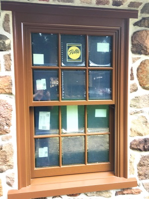 image of new wood double hung window in lancaster home