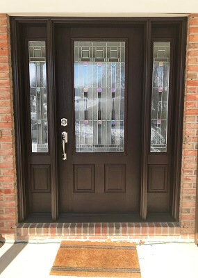 outside image of york home with new fiberglass entry door