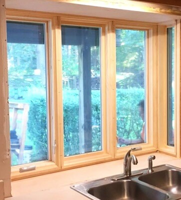 Custom Box Bay Window Completes Kitchen Remodel