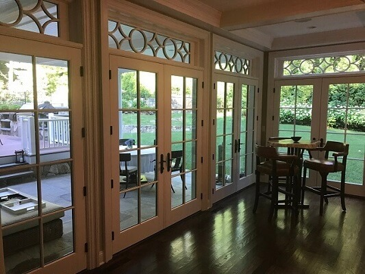 Patio View Of Fairfield Home With New Hinged Doors