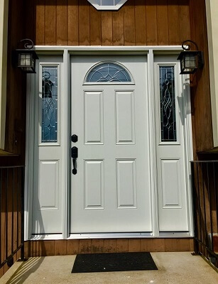 door image of naugatuck home with new vinyl double hung windows and entry door