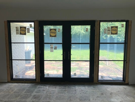 Contemporary French Patio Door Upgrade