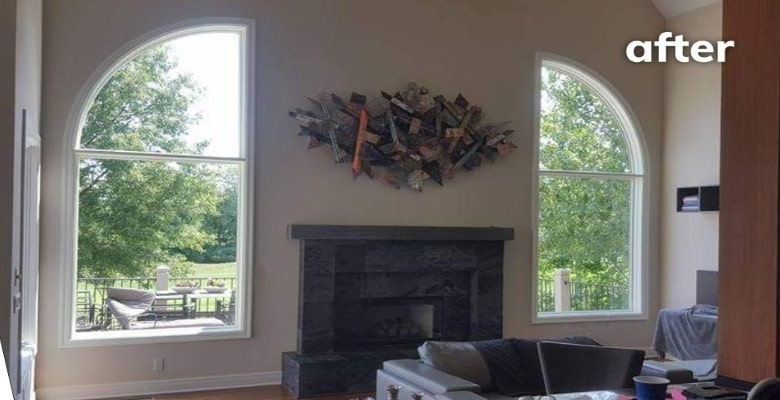 Custom Arched Windows Add Style to Lenexa Living Room
