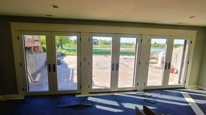 interior of french patio doors