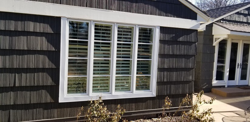 window view of salina home with new wood casement windows