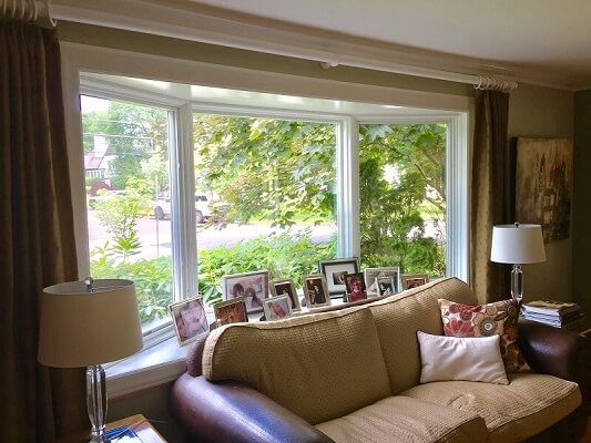 another inside image of scarsdale home with new bow window and fiberglass entry door