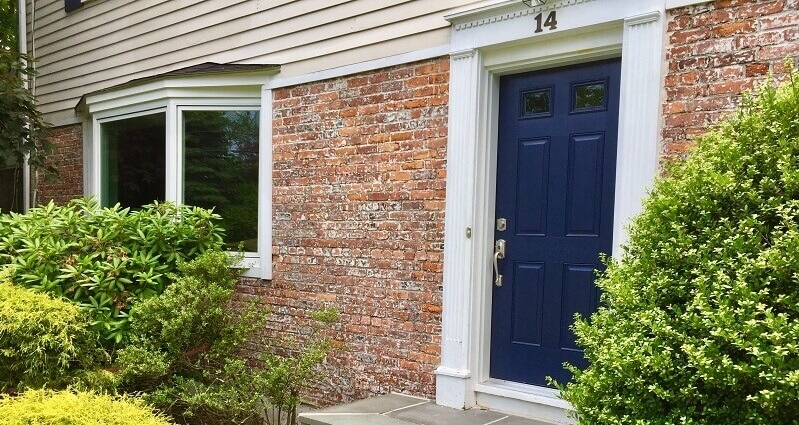 Bow Window & Fiberglass Entry Door Update Front Of Scarsdale Home