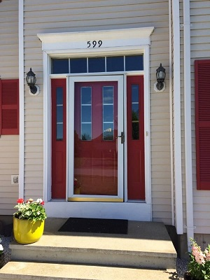 new england home entry door before replacement