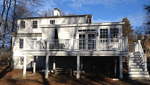Custom window replacments back of house - Wellesley MA