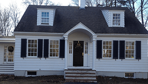 Custom window replacement front of house - Wellesley MA
