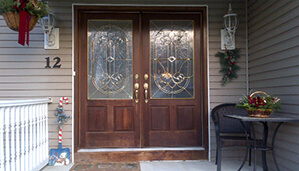 Before door replacement project in Middletown, NJ