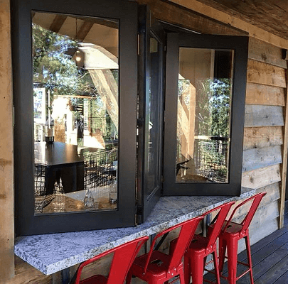 northern california home has custom mini bifold patio doors