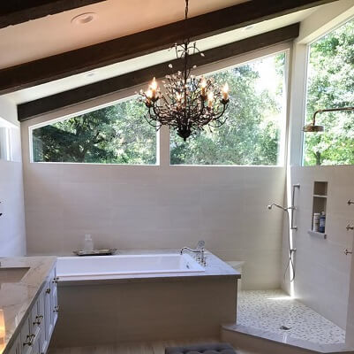 folsom home gets new vinyl picture windows in their bathroom addition