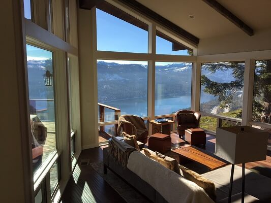 northern california donner lake home gets new picture and casement windows throughout