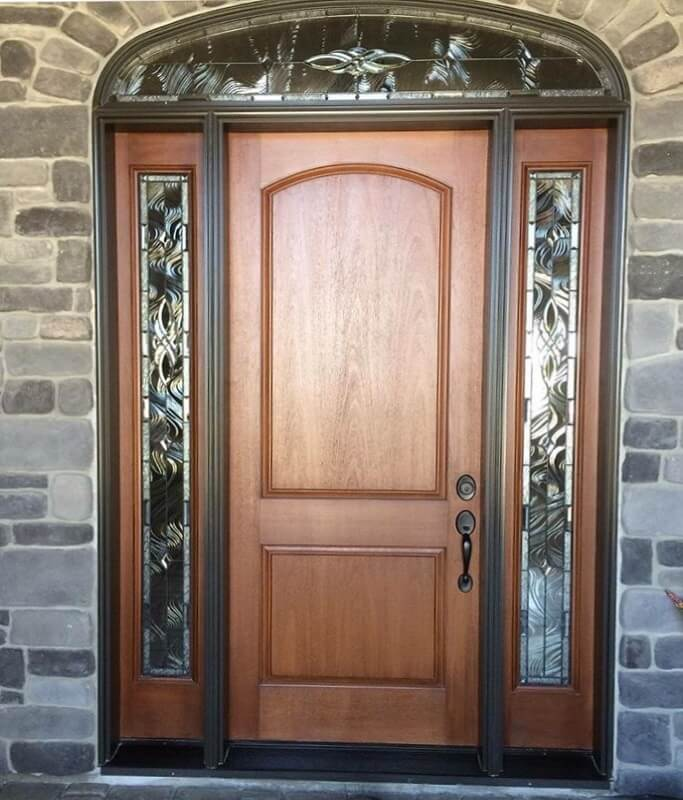 New Wood Entry Door In Fresno Home
