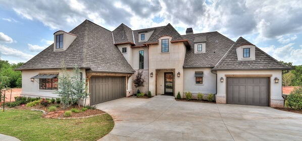 exterior of new construction OKC home