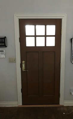 Wood whole home replacement entry door after