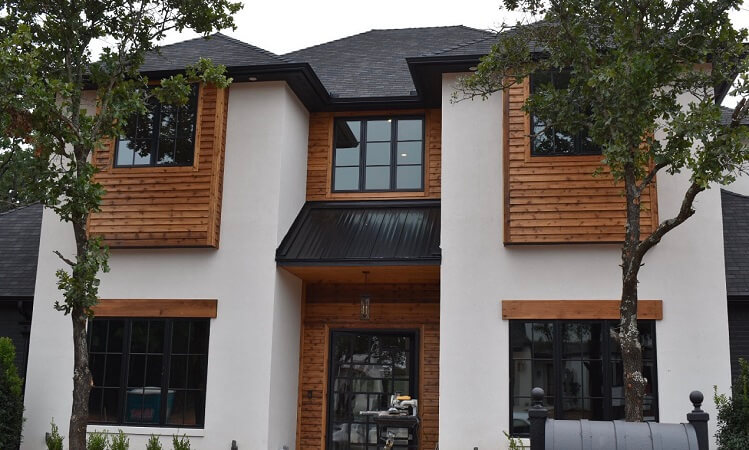 Black Wood Windows In Modern Edmond Home
