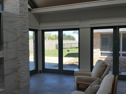 Bifold Patio Doors & Wood Windows in Tulsa Home