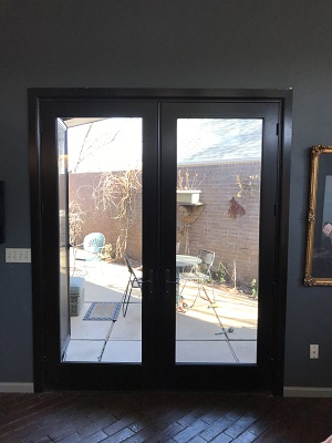 contemporary hinged patio door