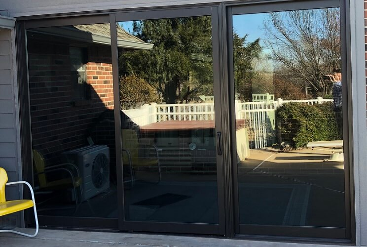Patio Update Includes Replacement Double-Hung Window and Patio Door