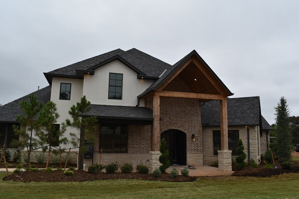 edmond new construction home with new wood pella windows
