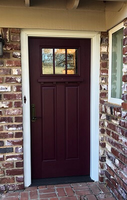 after image of oklahoma city home with new fiberglass entry door