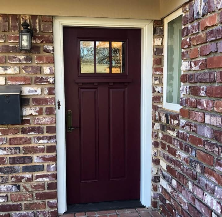 Before and After: Front Entry Door Makeover in Oklahoma City