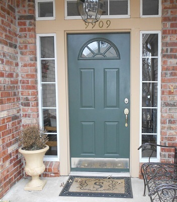 old fiberglass entry door with sidelights