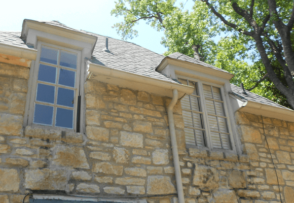 before window image of tulsa ok home with new wood casement windows
