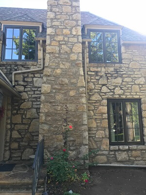 after images of tulsa ok home with new wood casement windows back of home
