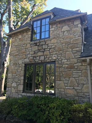 front after image of tulsa ok home with new wood casement windows