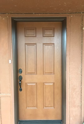 Updated fiberglass entry door exterior