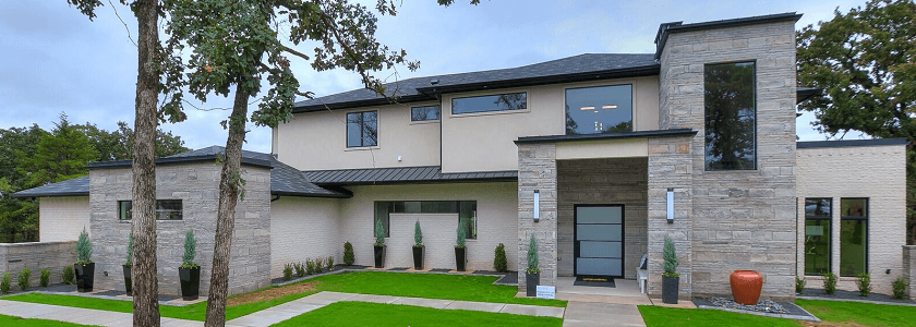 Black Windows for Contemporary New Home in Edmond