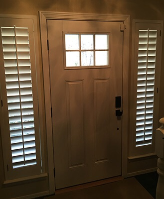 new replacement fiberglass entry door interior view