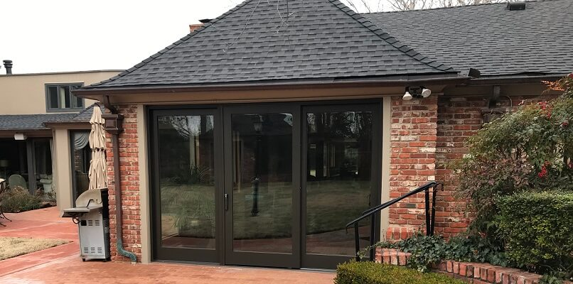 outside image of nichols hills home with new windows and doors